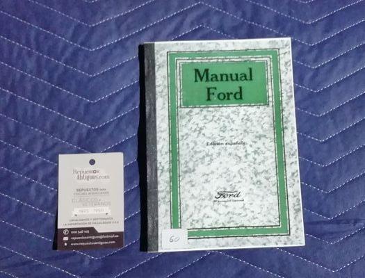 Manual de usuario para Ford T edición española.